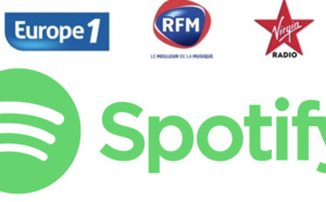 Europe 1, RFM et Virgin Radio concluent un accord avec Spotify