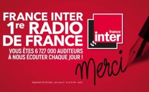 France Inter toujours première radio de France