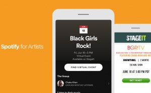 Spotify élargit sa fonctionnalité listant des concerts virtuels
