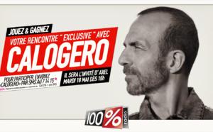 Calogero dans les studios toulousains de 100%