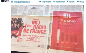 RTL vs NRJ : le tweet de Frank Lanoux