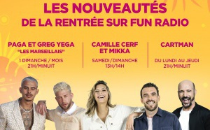 Cartman, Camille Cerf, Mikka... arrivent sur Fun Radio