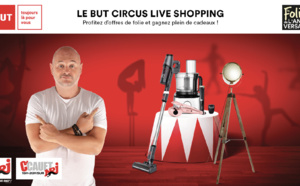 """Le """"But Circus Live Shopping"""" sur NRJ avec Cauet"""