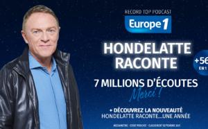 """""""Hondelatte Raconte"""" s'approche des 7 millions d'écoutes"""