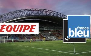 Les commentaires des locales de France Bleu disponibles sur les directs L'Équipe