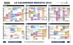 Le Calendrier Mediatic 2014 est arrivé