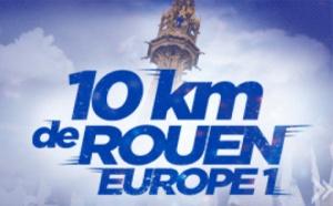 1er top départ des 10 km de Rouen Europe 1