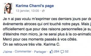 "Karima Charni quitte ""officiellement"" Fun Radio"