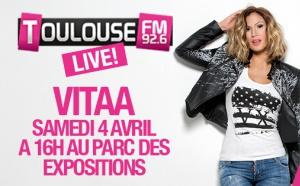Toulouse FM reçoit Vitaa à la Foire de Toulouse