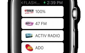 Les Indés Radios sur l'Apple Watch