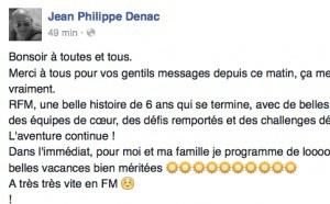 Jean-Philippe Denac quitte RFM