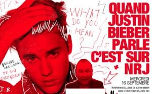 Justin Bieber dans l'émission de C'Cauet sur NRJ