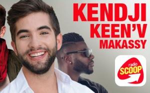 Kendji, Keen'V et Makassy en direct avec Radio Scoop