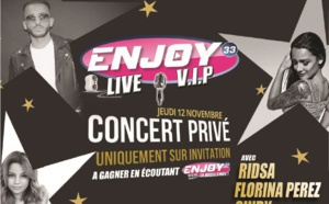 Enjoy 33 invite 400 auditeurs à un concert privé