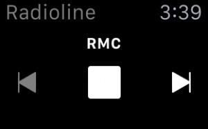 Radioline sort son application Apple Watch
