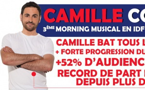 Camille Combal : dans le Top 3 des Mornings à Paris