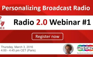 "Assistez au Webinar : ""Personalizing Broadcast Radio"""