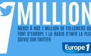 Un million de followers pour Europe 1