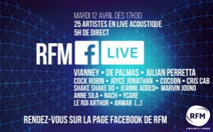 """Première édition du """"RFM Facebook Live"""""""