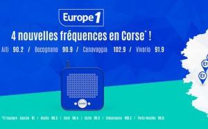 Europe 1 : quatre nouvelles fréquences en Corse