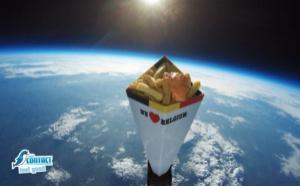 Radio Contact a envoyé des frites dans... l'espace