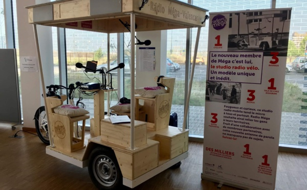 Radio Mégaet Digigram innovent avec un studio vélo équipé d'un codec portable