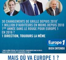 "Europe 1 : un ""état d'urgence"" selon les salariés"
