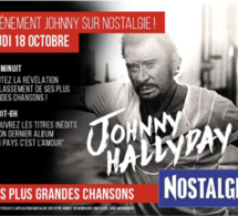 Evenement sur Nostalgie pour la sortie de l'album de Johnny Hallyday