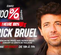 Patrick Bruel invité de la radio 100%