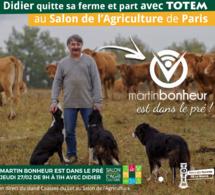 Totem au Salon de l'agriculture avec Didier (L'Amour est dans le pré)