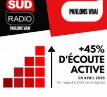 Une nouvelle progression d'audience pour Sud Radio
