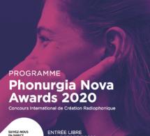 Nouvelle édition des Phonurgia Nova Awards 2020