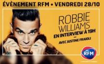Robbie Williams invité de justine Fraioli sur RFM