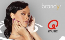 Brandy signe le nouvel habillage de Qmusic